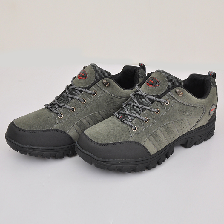 2016 New Designed Men Leather durable hiking shoes