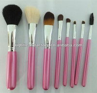 single make up brushes pink handle