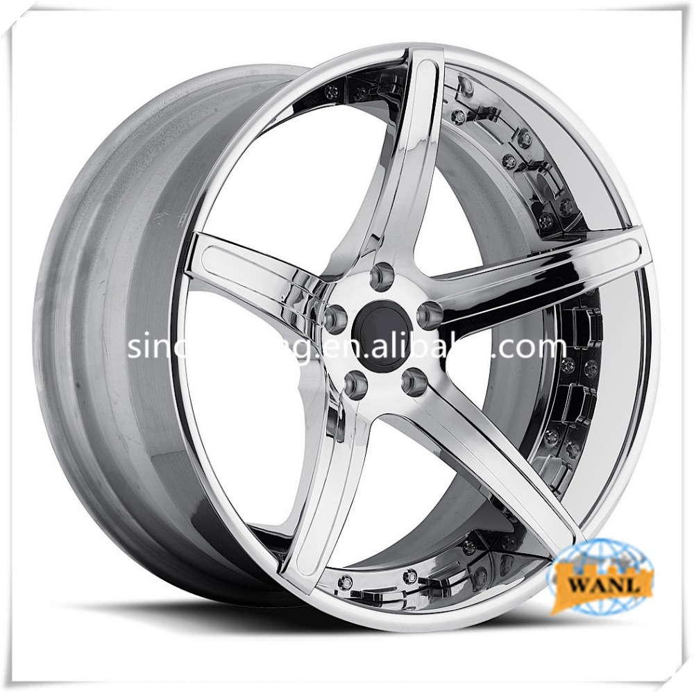 silver chrome alloy wheels 4/5 holes car rims factory price