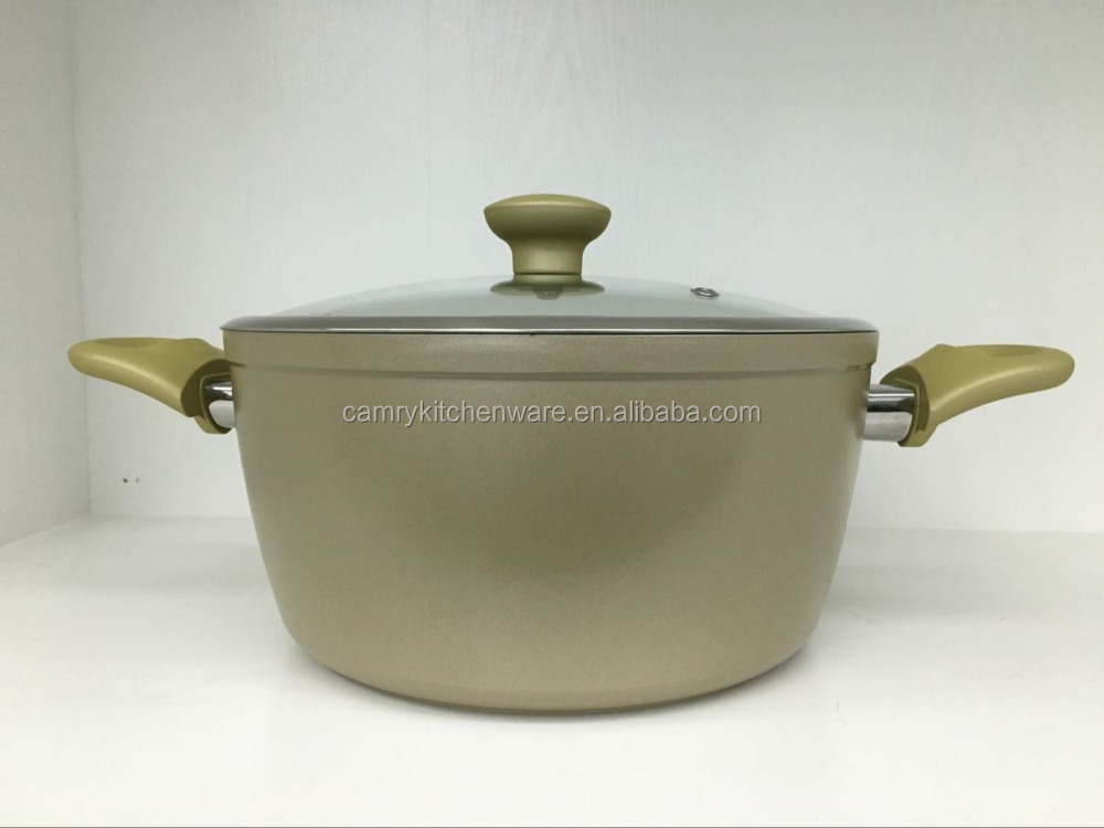 Forged Aluminum Colored Non-stick Coating Casserole/Cooking Pots