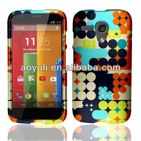 for Motorola Moto G hard case, colorful dots image phone case, case cover for Motorola