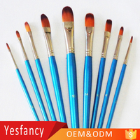 fashionable nylon hair colorful wood handle oval head artist water brush pen photo