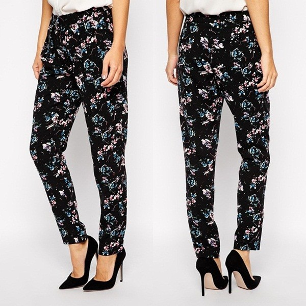 Hot Sell of new women's loose corduroy pants floral casual types of womens trousers