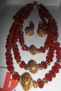 Gold Plated and Beads Jewelry