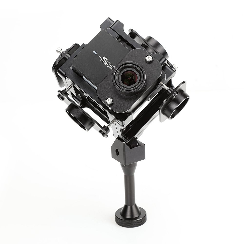 Hot Products 360 Degree Panoramic Camera Rig for Xiaomi Yi 4K Action Camera accessories