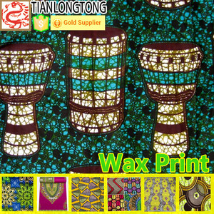 100% Polyester / 100% Cotton wax printed fabric batik halus fabric