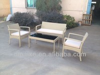 garden furniture sofa rotan with 5mm toughened glass