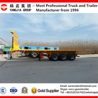 Good quality 2 axle 3 axle 40ft 45ft 50 ton 60 ton flatbed container semi trailer