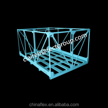 Pallet Rack Portable Logistic Containers Steel Mesh Crates