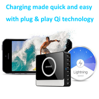 Powerful Wireless Charger Galaxy S4 Mini for Android, 8 Ports QI Universal Wireless Charger Receiver for xiaomi redmi 1s
