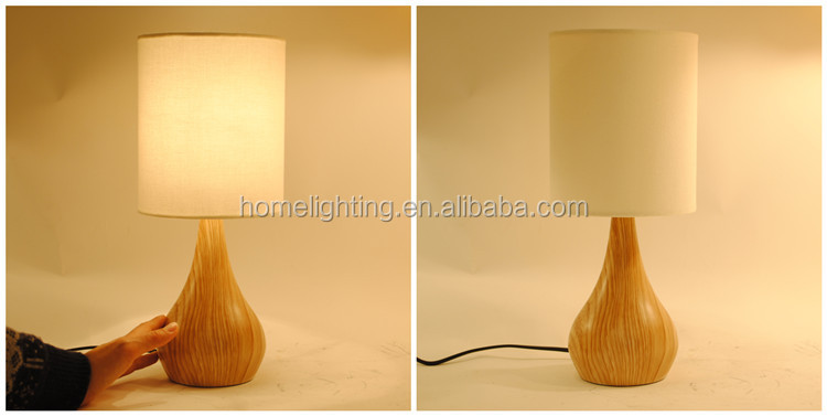 Jl n001 ul listed natural wood like base touch sensitive table lamp packing aloadofball Image collections