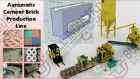 Automatic Cement Bricks Making Machines for paving blocks & grass block