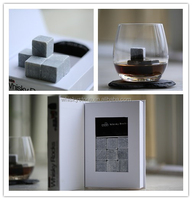 Design Customization Soapstone Rock Whiskey Stones With Logo Barware