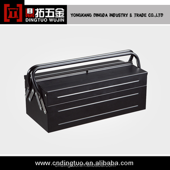 Quality and Quantity assured portable aluminum tool box DT-121