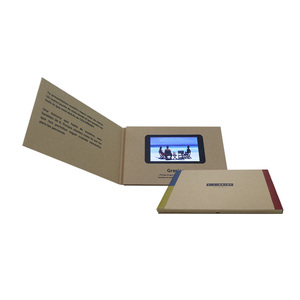 Customized 4.3 inch 128M A5 business greeting gift name wedding LCD screen video player brochure in print a paper card price
