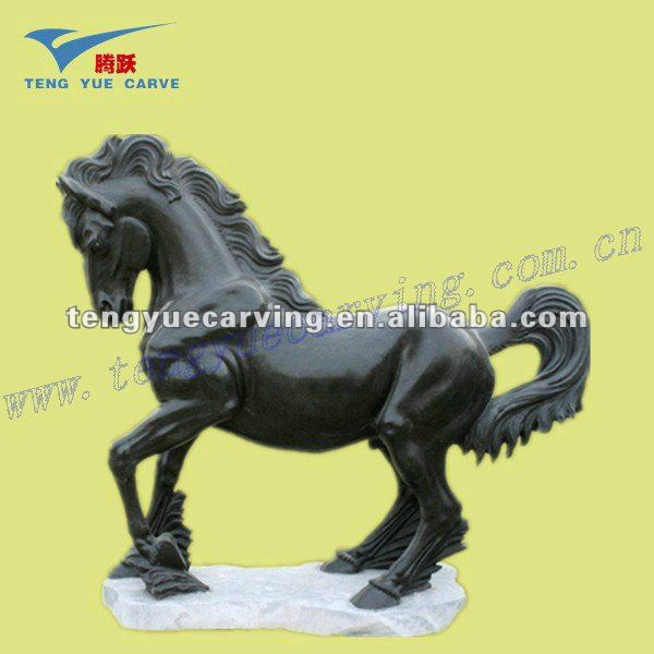 Outdoor decoration stone carving yellow marble lion sculpture