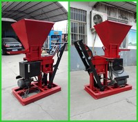 HBY1-15 manual compressed press mud brick making machine to product interlocking clay blocks