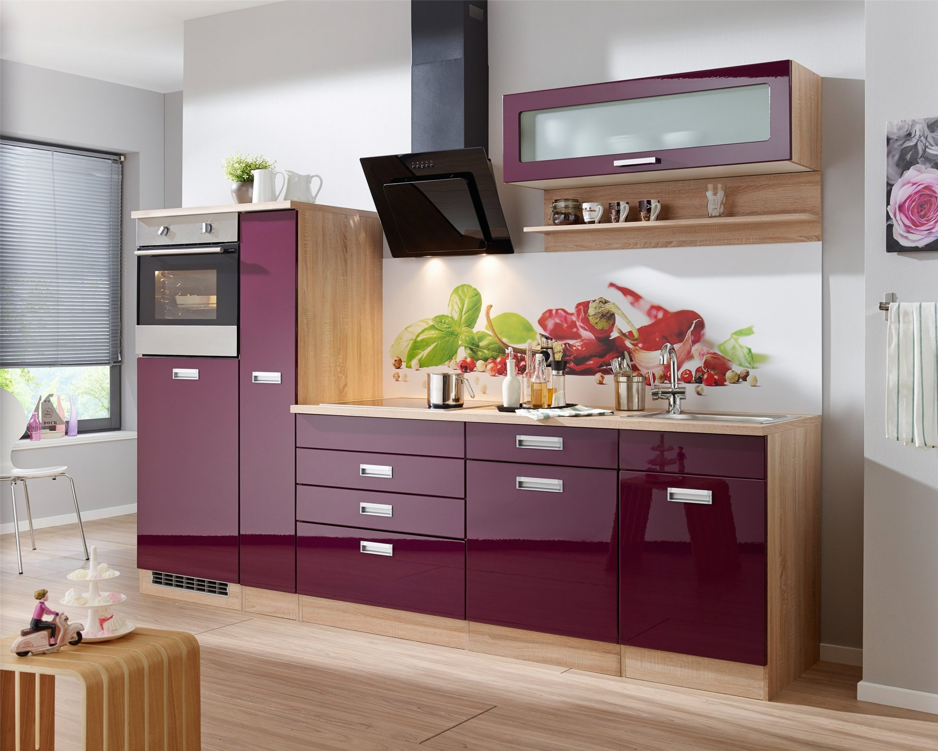Vermont Burgundy High Gloss Lacquer Kitchen Cabinet For Simple Kitchen Buy High Gloss Lacquer Kitchen Cabinet Doors Kitchen Cabinet Kitchen Cabinet
