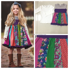 remake hot sale newest kids clothing sets skirt wholesale girl dress