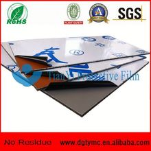 No residue easy peel PMMA panel/Marble/ACP surface mirror protective film roll