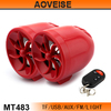 accessories speaker motorcycle Audio with remote control MT483-RED[AOVEISE]