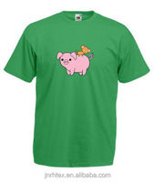 Baby Monkey On Back Of Pig Printed Mens T-Shirts