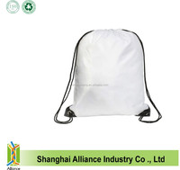 String Back Tote Bags Wholesale Promotional Printed nylon/polyester Drawstring Backpacks
