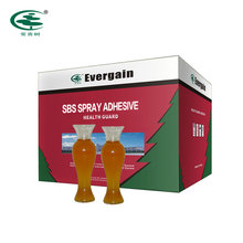 Evergain solvent based and slight yellow transparent SBS spray adhesive for leather sofa mattress swivel chair carpet