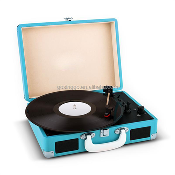 2016 High Quality Suitcase Stereo Record Player with Bluetooth Function