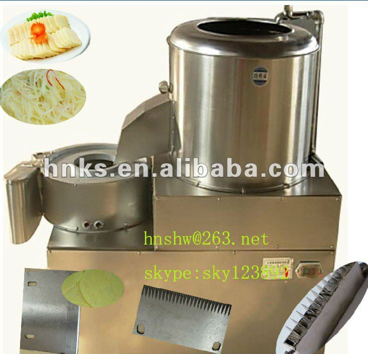 stainless steel automatic potato chips cutting machine/potato chips peeling machine