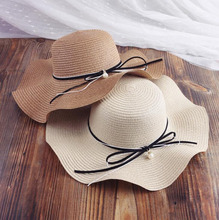 Cheap paper straw lady beach hat with image