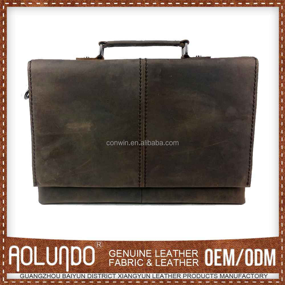 Newest Simple Design Leather Office Bags For Men
