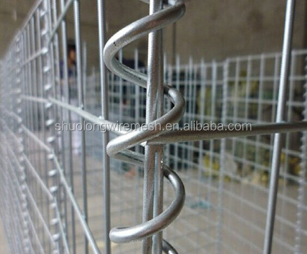 Galvanised welded gabion stone, steel hesco bastion wall, welded hesco gabion box
