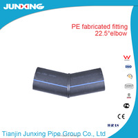 HDPE fabricated fittings/ pe water pipe 22.5 elbow