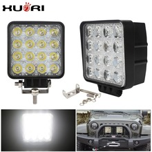 Auto parts 48 Watt Working Led Lights 12v 16 led Offroad Auto 48w Led Working Light For Car off road
