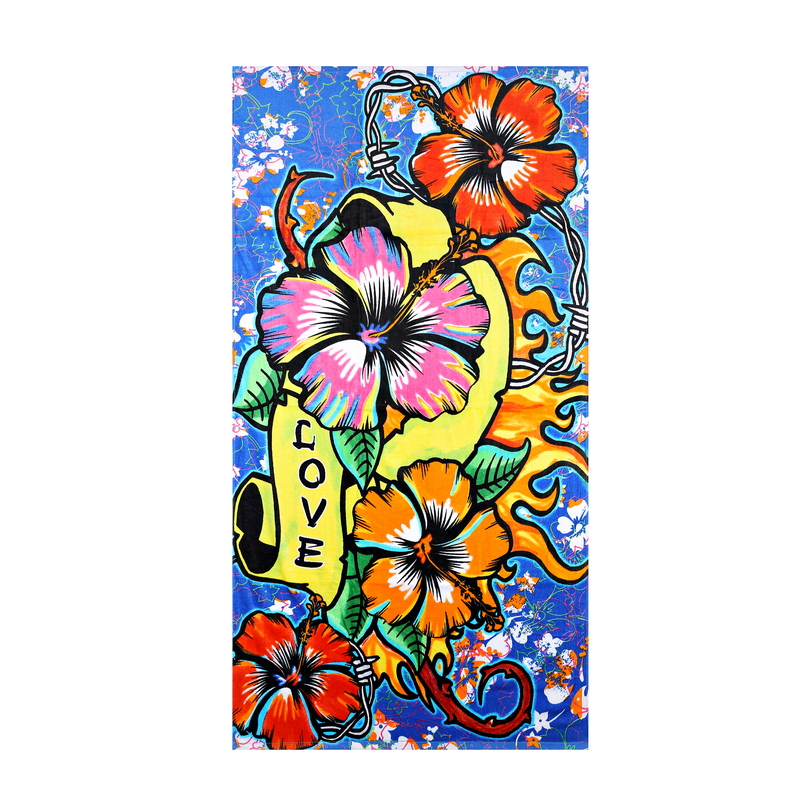 High Quality Lively Beach Towel 100%Cotton Print Pareo