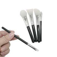 Personalized 6pcs Cute Silicone Head Cosmetic Makeup Brush Set