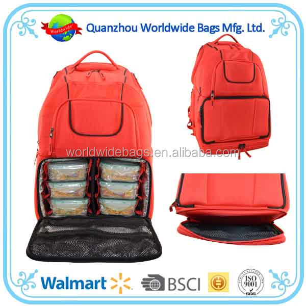 Multi-fuctional Meal backpack 6packs fitness Voyager Meal managerment backpack from BSCI Audit factory
