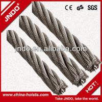 galvanized steel wire ropes 7*7 for Auto Cables