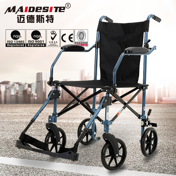 Commerical furniture black manual wheelchair with small wheels