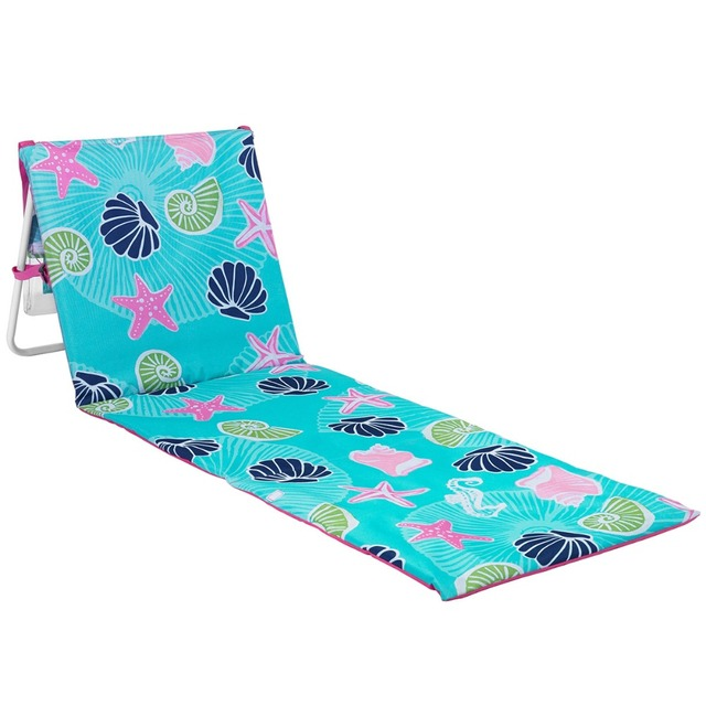 Starfish and Shell Printing Portable Beach Lounger Deck Chair