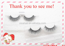 Popular false lashes 3D real mink eye lashes with competitive price high quality