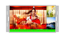 "19"" inch digital LED ads video display open frame media USB player screen"