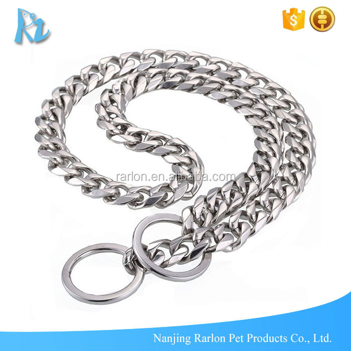 Stock Sale 10.5mm Ultra Strong Designer Slip Pitbull Choke Chain Collar