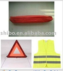 auto safety kit,warning triangle in high quality and low price, fire hot-sales