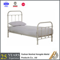 White wrought iron platform bed frame