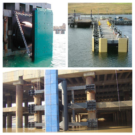 UV stabilised UHMW PE Fenders facing pad marine dock bumper for port