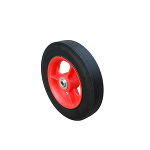 Heavy duty 7 inch solid rubber wheels for casters