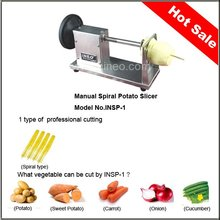Portable small otato spiral cutter/potato twist machine/tornado potato slicer