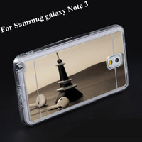 Cell phone case with mirror tpu case for samsung galaxy note 3 case
